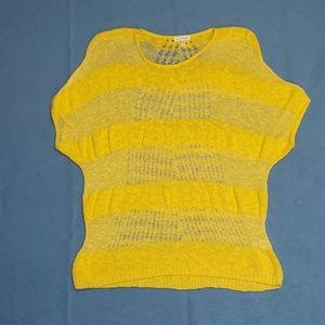 Charming Charlie Sunny Crochet Dolman Blouse